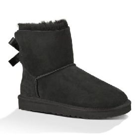 1016501/BLK UGG BAILEY BOW 2